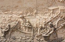 Scultura di pietra della coltura tailandese Immagine Stock