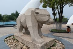Scultura di pietra della orso-pietra Immagini Stock Libere da Diritti