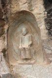 Scultura di pietra di Buddha Fotografie Stock Libere da Diritti