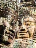 Scultura di pietra gigante del fronte sorridente Fotografia Stock Libera da Diritti