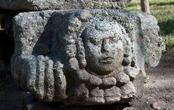 Scultura di pietra maya, ¡ n di Copà Immagini Stock Libere da Diritti