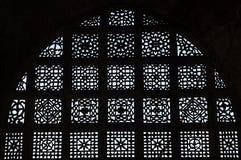Scultura di pietra a Sarkhej Roja, Ahmedabad, India Fotografia Stock