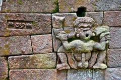 Scultura di pietra in tempio Sukuh-Indù erotico antico di Candi su J Fotografie Stock Libere da Diritti