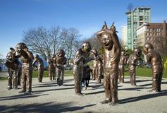 Scultura di risata a Vancouver fotografie stock libere da diritti