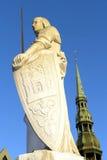 Scultura di Roland a Riga Immagine Stock Libera da Diritti