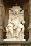 Scultura di Sir Chinubhai Beronet vicino alla fortificazione di Bhadra, Ahmedabad Immagine Stock
