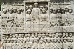 Scultura di Theodosius dell'imperatore, Costantinopoli Fotografia Stock Libera da Diritti