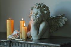Scultura di un angelo Immagini Stock