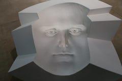 Scultura di una testa umana Fotografia Stock