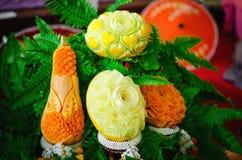 Scultura di verdure tailandese tradizionale immagine stock libera da diritti