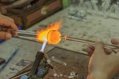 Scultura di vetro da fatto a mano Immagine Stock