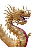 Scultura dorata del drago Immagini Stock