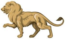 Scultura dorata del leone Immagine Stock