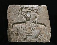 Scultura egiziana antica della parete Fotografia Stock