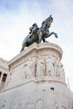 Scultura equestre dal monumento di patria di della del altare Immagini Stock Libere da Diritti