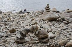 Scultura equilibrata delle pietre Immagini Stock