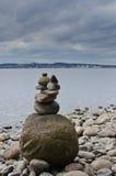 Scultura equilibrata delle pietre Fotografie Stock