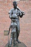 Scultura famosa della stella di baseball a Fenway Park Boston Massachussets immagini stock libere da diritti