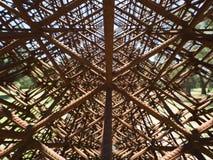 Scultura geometrica del metallo Fotografie Stock
