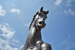 Scultura gigante del cavallo fotografia stock libera da diritti