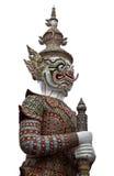 Scultura gigante tailandese su fondo bianco Fotografia Stock Libera da Diritti