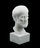 Scultura greca di Aristotle del filosofo Fotografie Stock Libere da Diritti