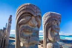 Scultura hawaiana di legno Fotografia Stock