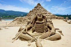 Scultura indiana della sabbia Immagini Stock Libere da Diritti