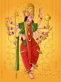 Scultura indiana di Durga della dea per il festival di festa di Durga Puja dell'India in Dussehra Vijayadashami Navratri royalty illustrazione gratis