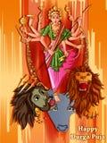 Scultura indiana di Durga della dea per il festival di festa di Durga Puja dell'India in Dussehra Vijayadashami Navratri illustrazione vettoriale