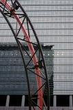 Scultura leggera del dettaglio al grattacielo di Kastor Fotografie Stock Libere da Diritti