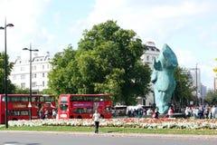 Scultura Londra Inghilterra della testa di cavallo Fotografia Stock
