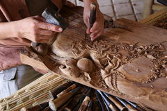 Scultura manuale Fotografia Stock