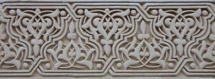 Scultura marocchina di arabesque del gesso Fotografia Stock Libera da Diritti