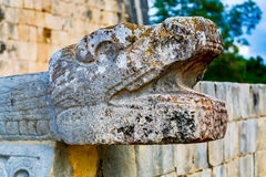 Scultura maya della pietra Fotografie Stock Libere da Diritti