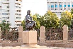 Scultura nel monumento di indipendenza del Kazakistan Almaty, Fotografie Stock