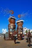Scultura nella città di Cambrils, Spagna Immagini Stock Libere da Diritti