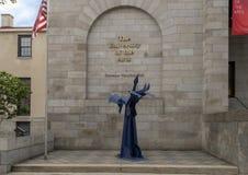 Scultura non identificata dello studente del ferro all'università delle arti, Filadelfia, Pensilvania Fotografia Stock Libera da Diritti