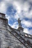 scultura particolari Basilica della nostra signora del rosario Lourdes, Francia Fotografia Stock Libera da Diritti