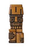 Scultura peruviana di legno fotografia stock