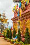 Scultura religiosa nel triangolo dorato di Chiang Mai thailan Immagine Stock