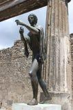 Scultura romana antica a Pompei, Italia Fotografia Stock Libera da Diritti