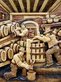 Scultura rumena di legno Fotografia Stock