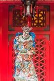 Scultura Sik Sik Yuen Wong Tai Sin Temple Kowloon Ho del dio di taoismo Immagine Stock Libera da Diritti