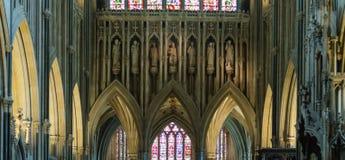 Scultura sopra l'altar maggiore nella cattedrale di pozzi Fotografia Stock Libera da Diritti