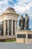 Scultura ss Cyril e Methodius Fotografie Stock Libere da Diritti