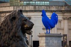 Scultura su Trafalgar Square, Londra Fotografia Stock
