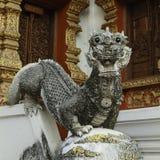 Scultura tailandese del drago Fotografie Stock