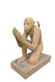 Scultura tailandese della scimmia Fotografie Stock