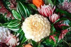 Scultura tailandese della verdura Fotografia Stock
